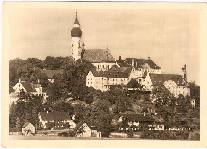 Andechs Totalansicht Missionary Germany vintage postcard
