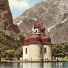 Konigssee Lake of St Bartholomew Germany vintage postcard