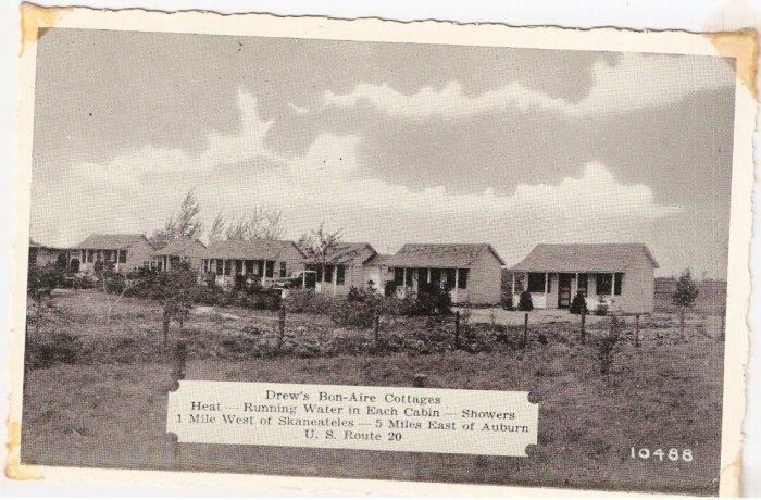 Drew's Bon Aire Cottages Auburn Skaneateles New York vintage postcard