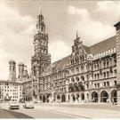 Munchen Marienplatz Rathaus und Dom Germany vintage postcard
