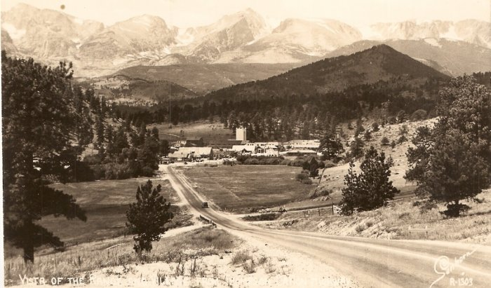 Vista of Range and Village Thompson Canon Highway vintage postcard 1948