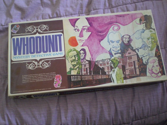Whodunit Mystery Detective Game Selchow Righter 1972