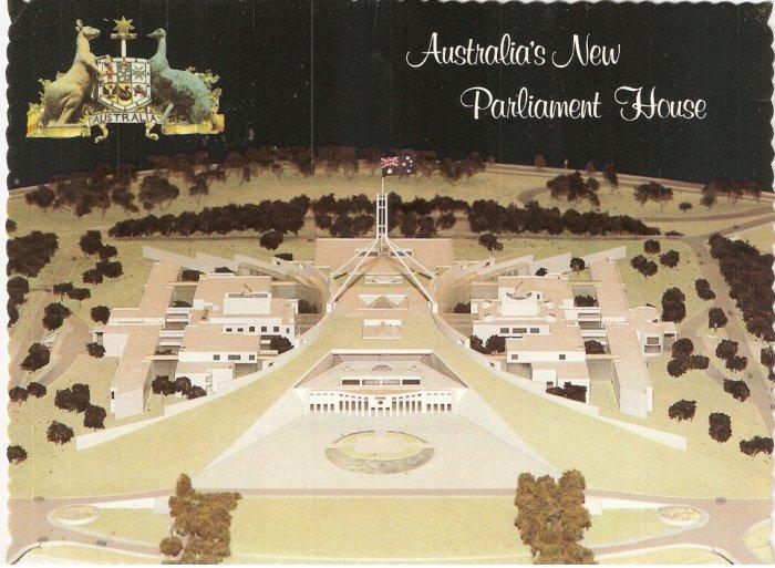 New Parliament House Canberra Australia Robert Schorn postcard