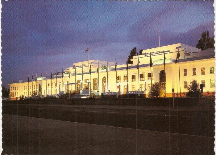 Capital of Australia Canberra Australia Robert Schorn postcard