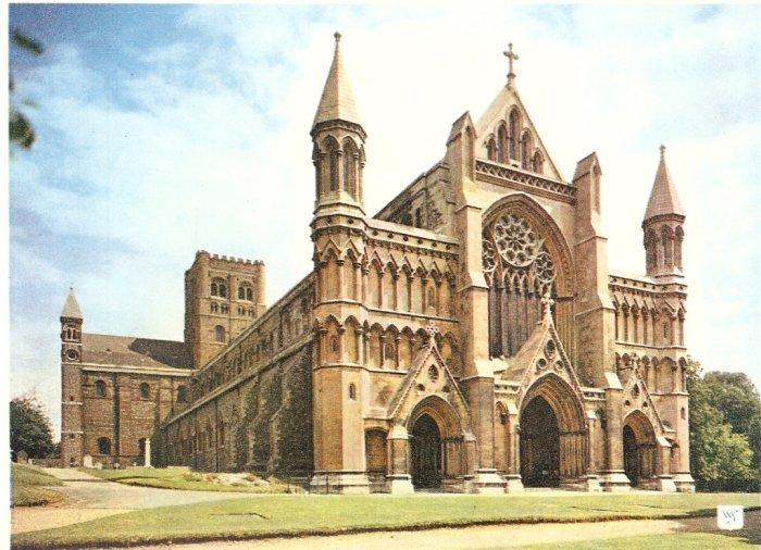 St Albans Abbey North West Walter Scott England postcard