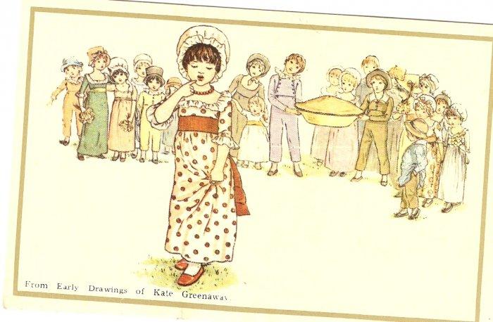 Children Pie Kate Greenaway Merrimack Publishing 1798S postcard