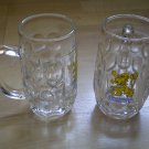 Lot 2 Lowenbrau Munchen Beer Stein 0.25L Glass Germany mug cup
