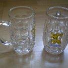 Lot 2 Lowenbrau Munchen Beer Stein 0.25L Glass Germany mug cup