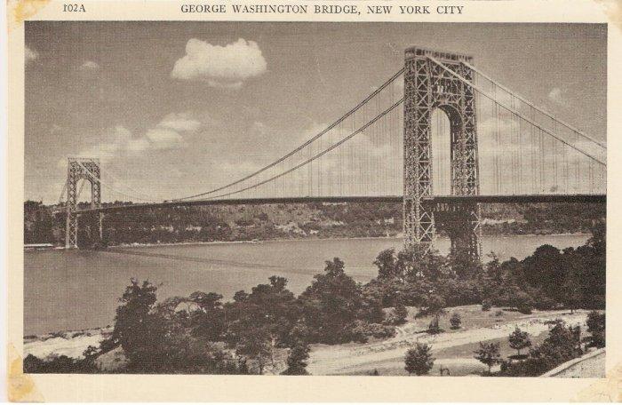 George Washington Bridge New York City rppc vintage postcard