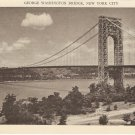 George Washington Bridge New York City rppc vintage postcard
