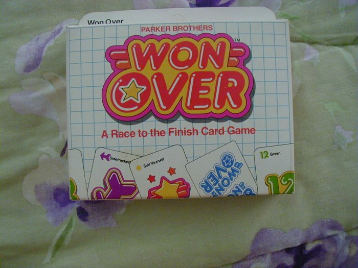 New Won Over Race to the Finish Card Game Parker Brothers #707 1983