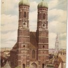 Frauenkirche Our Lady Cathedral Germany Munich Munchen vintage postcard