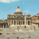 Vatican Italy vintage postcard St Peter&#39;s Square Basilica