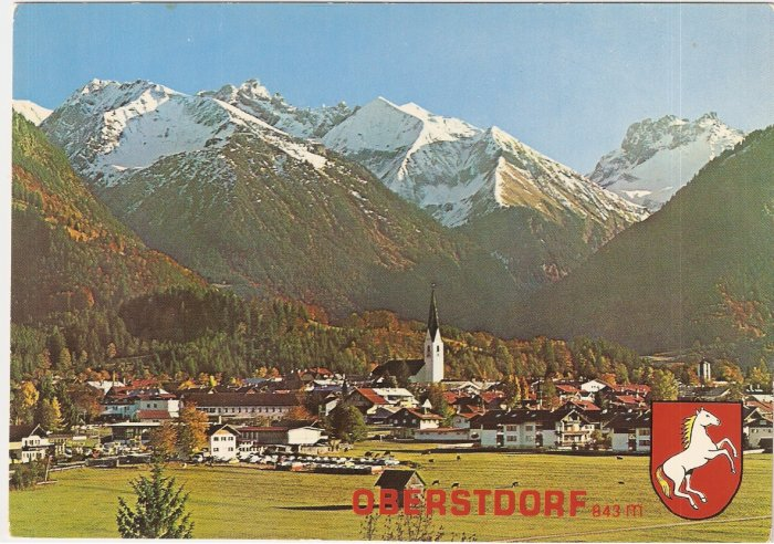 Luftkurot Oberstdorf Germany vintage postcard mountains valley