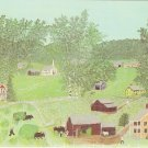 Haying Time Grandma Moses Farm Bennington Museum postcard