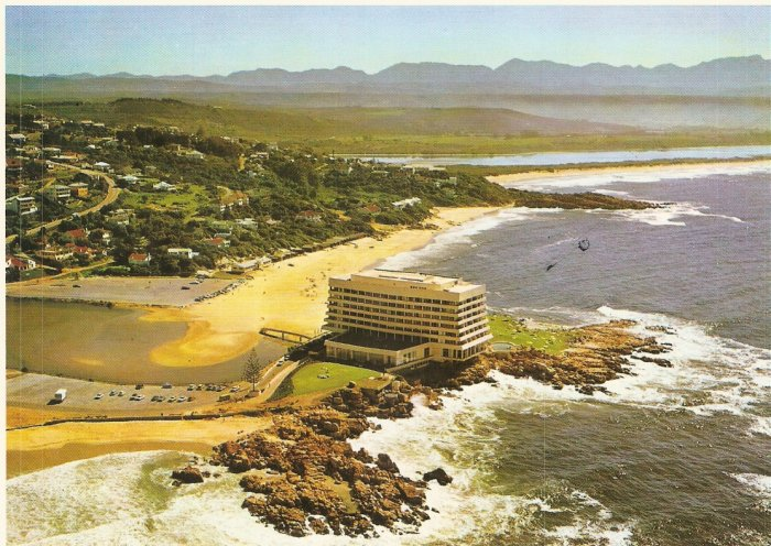 Plettenberg Bay Cape Province South Africa postcard Beacon Isle Hotel Panoramic