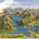 Lake Lucerne Switzerland vintage postcard