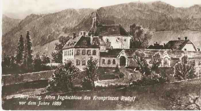 Mayerling Austria Crown Prince Rudolf vintage postcard
