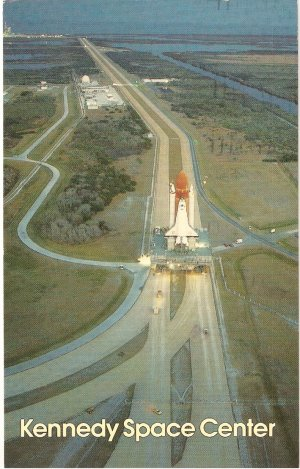 NASA Kennedy Space Center Shuttle Florida vintage postcard