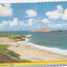 Waimanalo Bay Hawaii Rabbit Island vintage postcard