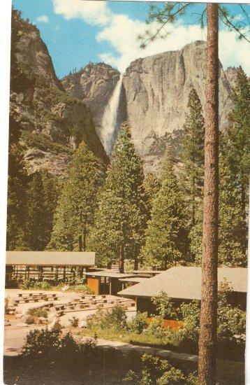 Yosemite Lodge National Park California vintage postcard