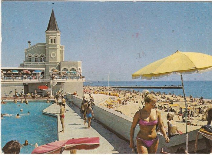 Lisbon Portugal  Estoril  Beach vintage postcard