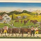 Willi Forrer Farmer Toggenburg Switzerland vintage postcard