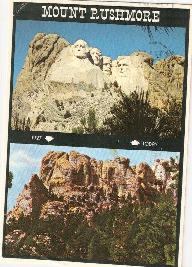 Mount Rushmore Black Hills South Dakota SD vintage postcard