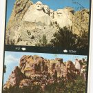 Mount Rushmore Black Hills South Dakota SD vintage postcard