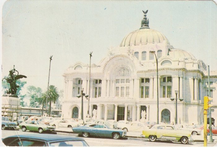 Palace of Fine Arts Mexico vintage postcard