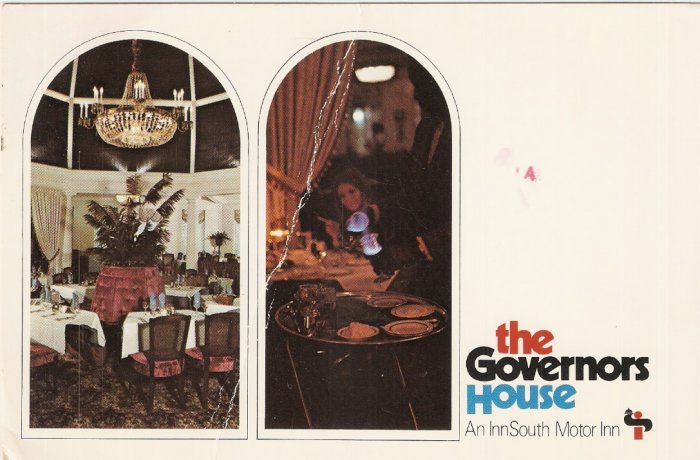Governors House InnSouth Motor Inn Alabama vintage postcard