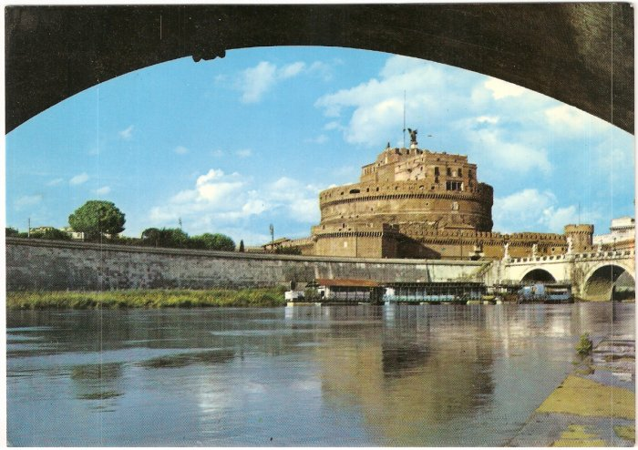 Rome The Angel's Castle Italy vintage postcard