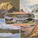 Hermitage Mount Cook Lake Pukaki New Zealand vintage postcard