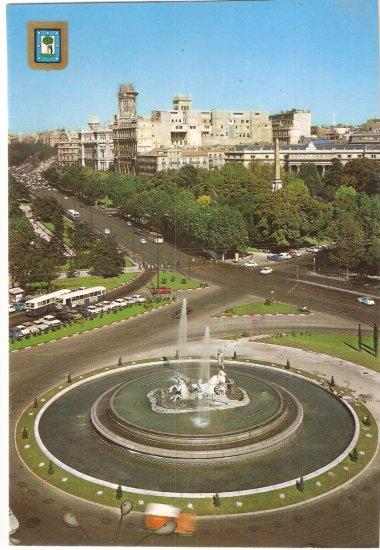 Neptuno Fountain Madrid Spain Neptune vintage postcard