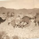 Vintage Photo people in desert prostrate resting asleep?