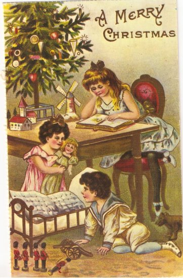 Merry Christmas repro Merrimack #4378 postcard