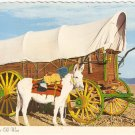 Old West Scene David Mills mule conestoga wagon vintage postcard
