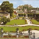 Salzburg Mirabell Garden Cathedral Fort Hohensalzburg Austria vintage postcard