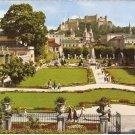 Salzburg Mirabell Garden Cathedral Fort Hohensalzburg Austria vintage postcard