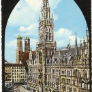 Munich Town Hall Church Our Lady Germany vintage postcard