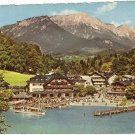 Konigssee Seelande Germany mountains resort vintage postcard