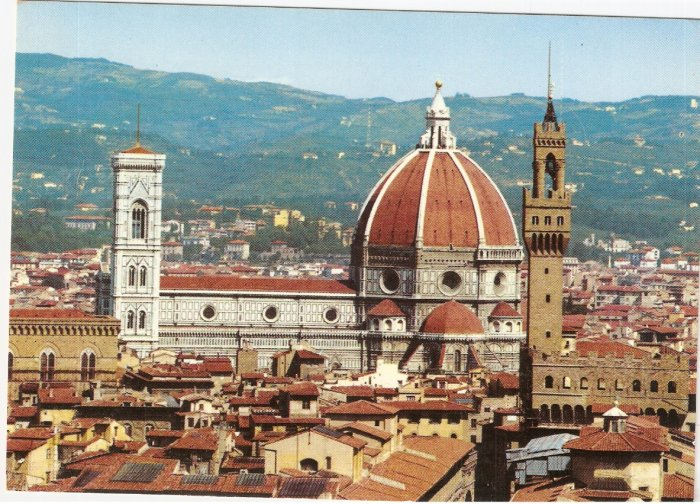 Firenze Florence Italy Panorama vintage postcard