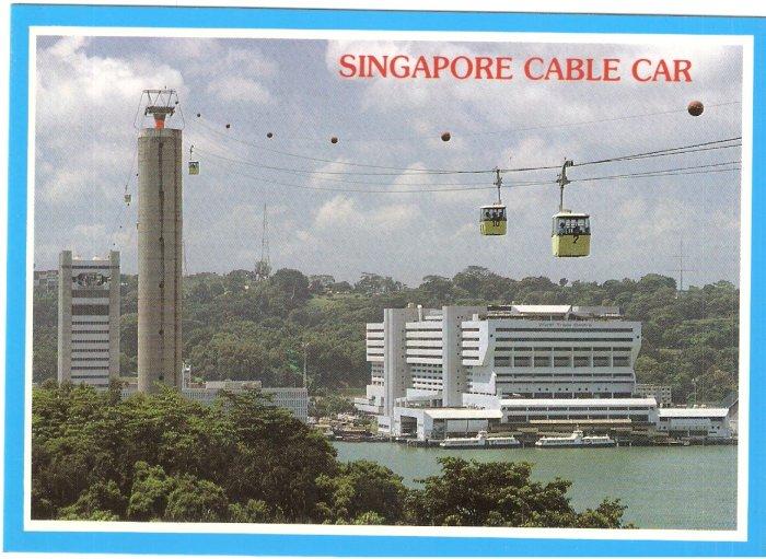 Singapore Cable Car Sentosa Island postcard