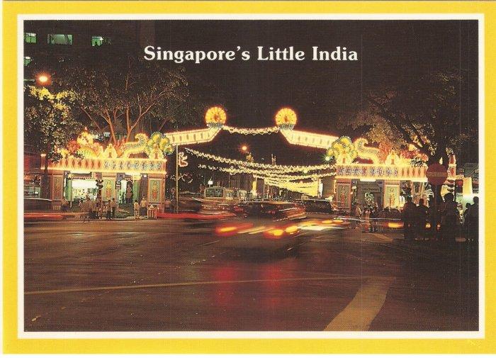 Singapore Little India Serangoon Road Deepavali postcard