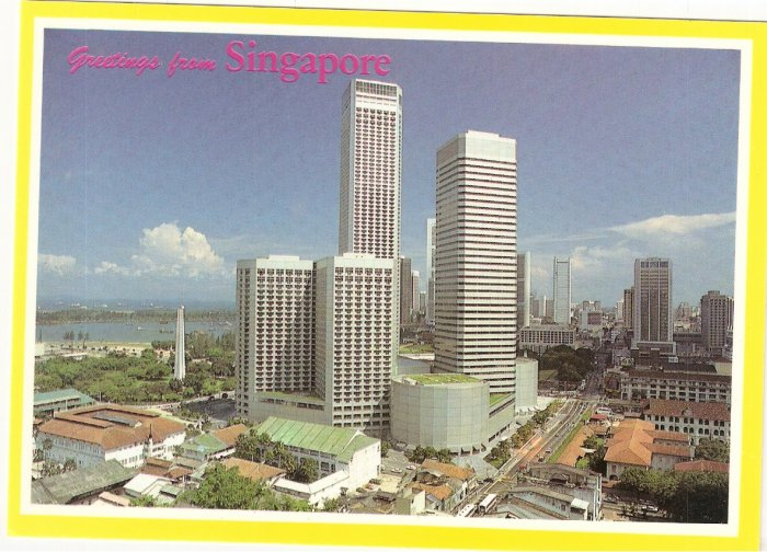 Greetings Singapore Westin Stamford Raffles City postcard
