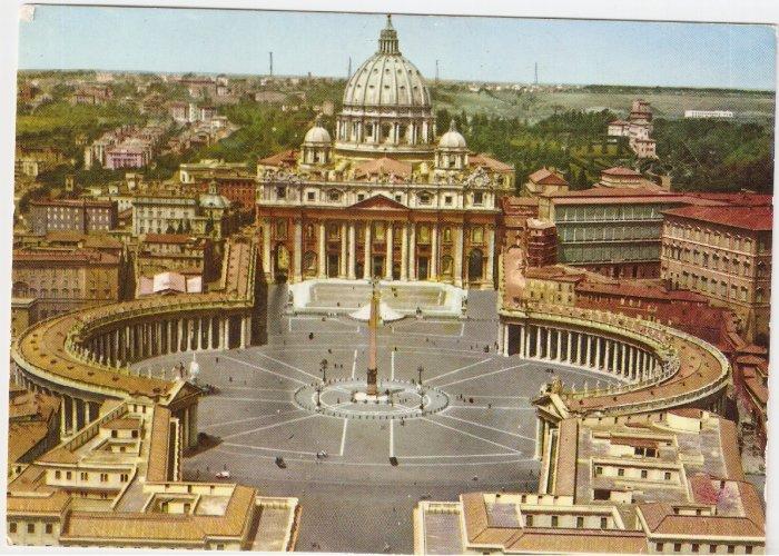 Roma Rome Italy St Peter Square Saint vintage postcard
