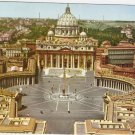 Roma Rome Italy St Peter Square Saint vintage postcard