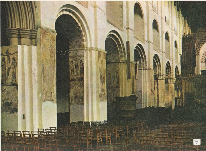 St Albans Abbey London vintage postcard