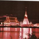 Phra Chedi Klangnam Samutprakan Thailand vintage postcard