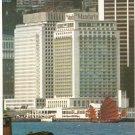 Mandarin Hotel Hong Kong harbour harbor Chinese junk vintage postcard